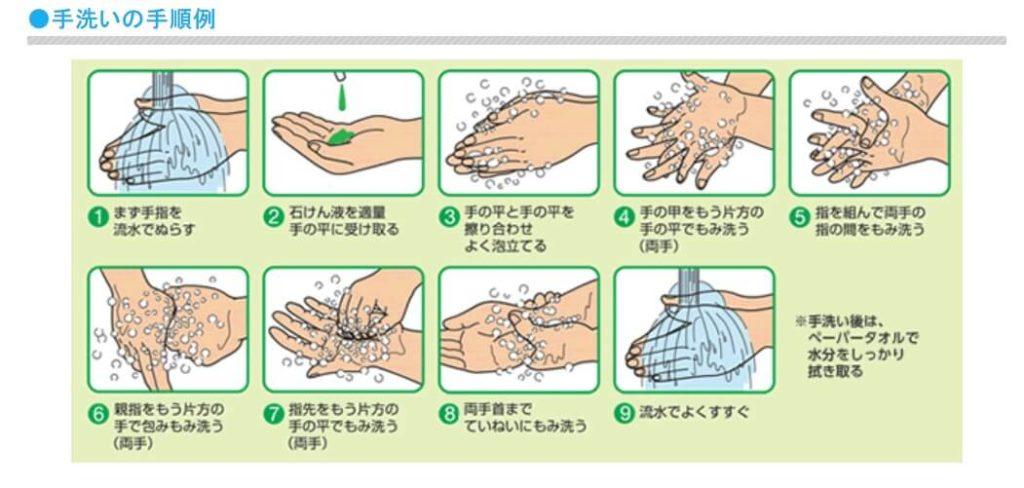 手洗い手順イメージ