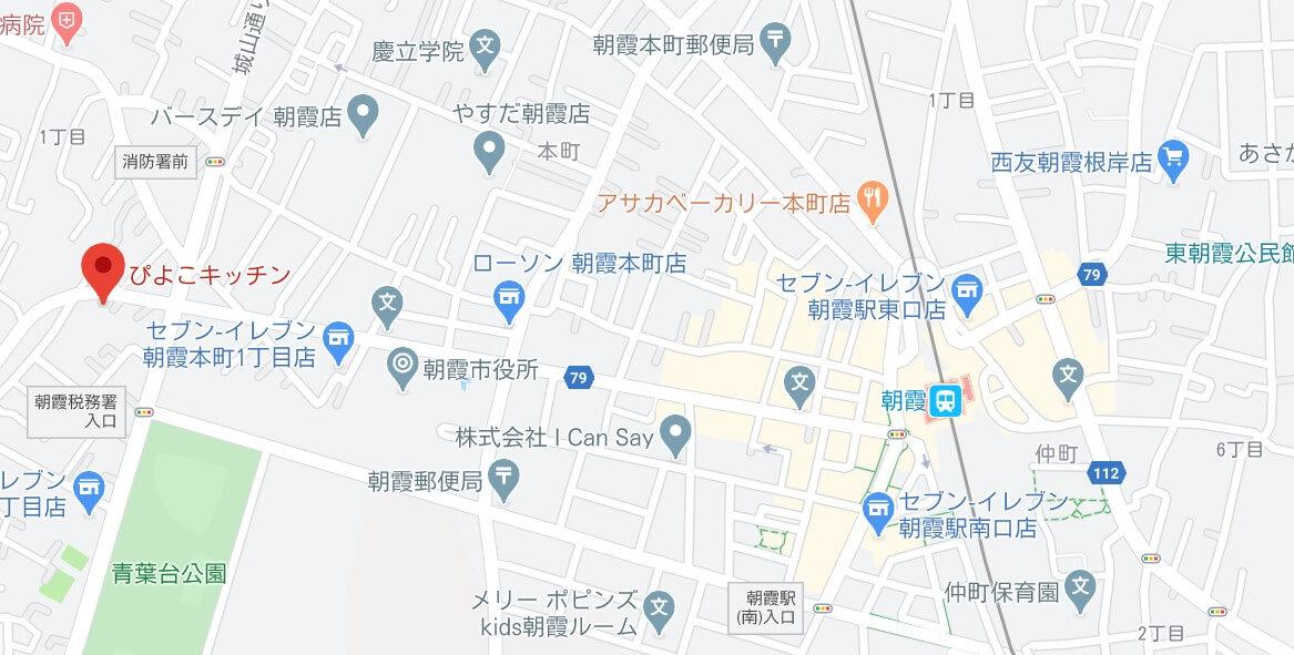 ぴよこキッチン 地図