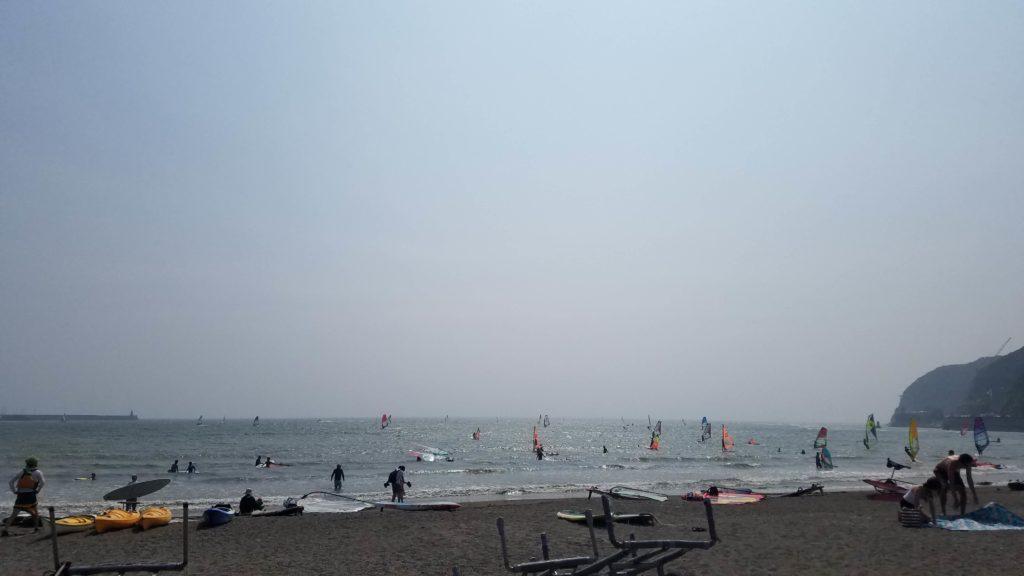 逗子海岸 浜辺散歩