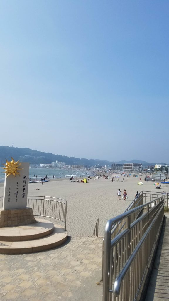 逗子海岸 浜辺