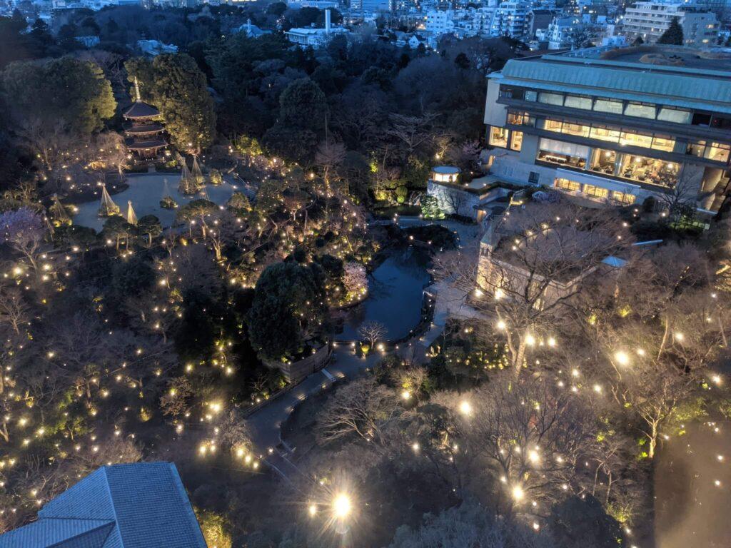 椿山荘 夜景