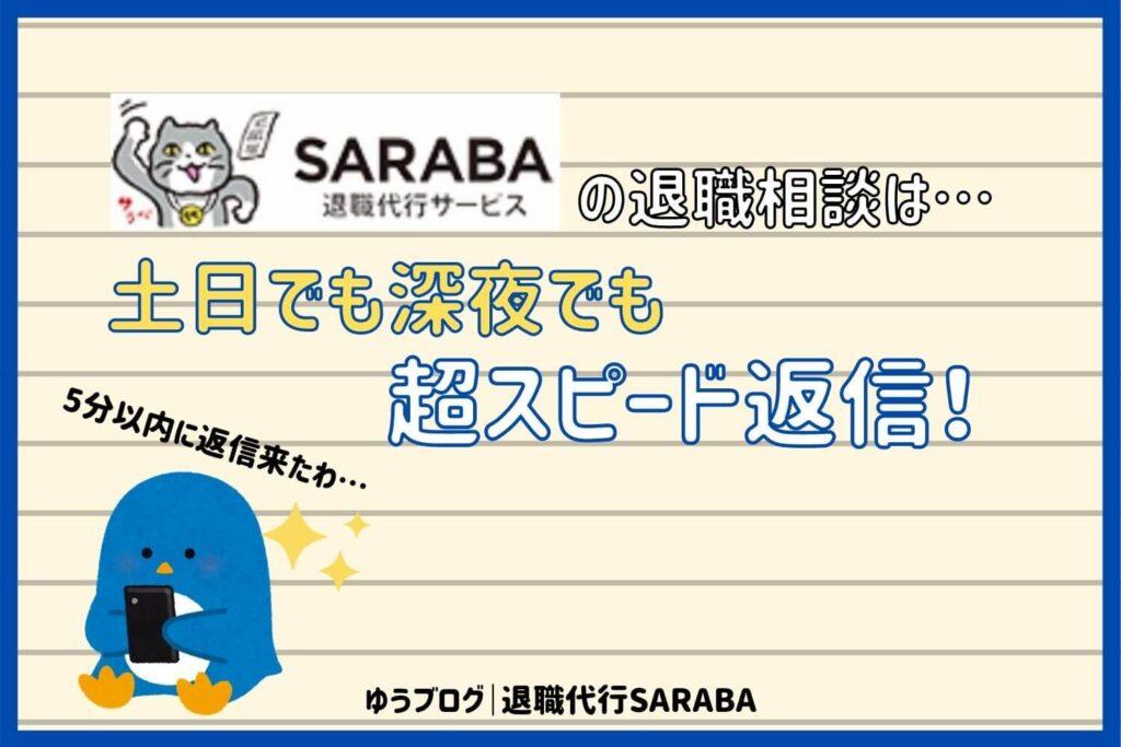 退職代行 SARABA 返信 早い
