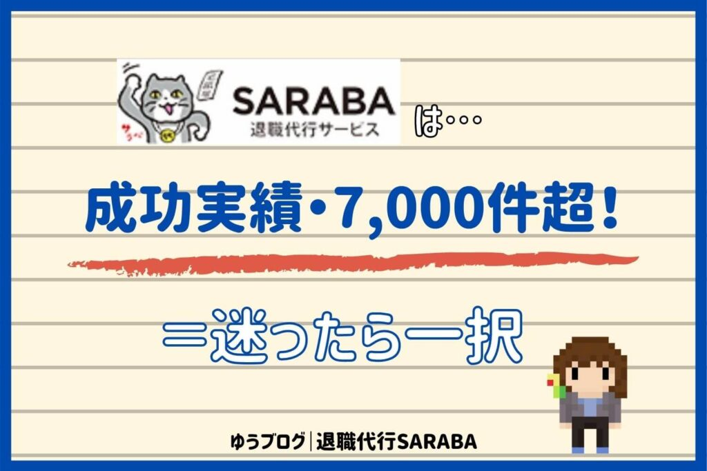 退職代行 SARABA 実績