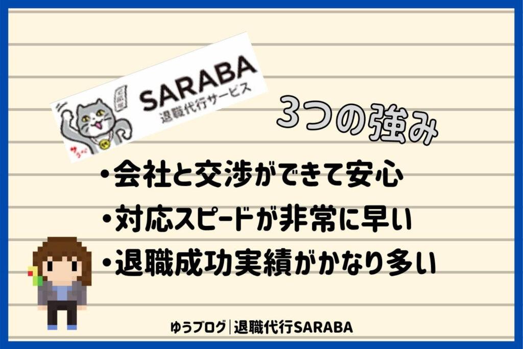 退職代行 SARABA メリット